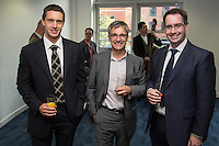 Philip Thomas (centre) of Potter Clarkson is with Browne Jacobson's Dave Holt (left) and Richard Roberts