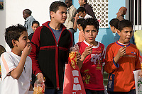 Tripoli, Libya, North Africa - Libyan Teenage Boys at International Trade Fair.  Casual Western Clothing Styles.