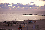 Tel Aviv Beach At Dusk