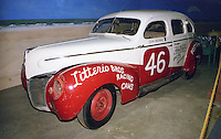 Sam Packard's old race car on display at the Talladega racing museum at Alabama International Motor Speedway in Talladega, AL on May 1, 1983.  (Photo by Brian Cleary/www.bcpix.com)