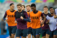 Steven Gerrard of England with team mates during training
