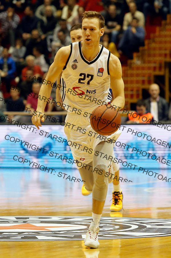 Adin Vrabac Aba regionalna liga Partizan - Igokea 27.12.1015. December 27. 2015. (credit image & photo: Pedja Milosavljevic / STARSPORT)