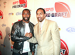 NY Jets Darrelle Revis  and Sports Commentator Stephen A Smith Attend ESPN The Magazine's Eighth Annual Pre-Draft Party, at ESPACE Featuring Music Provided by ?uestLove, New York  4/27/11
