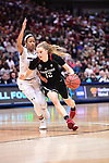DALLAS, TX - MARCH 31:  Brittany McPhee #12 of the Stanford Cardinal drives the ball during the 2017 Women's Final Four at American Airlines Center on March 31, 2017 in Dallas, Texas. (Photo by Justin Tafoya/NCAA Photos via Getty Images)
