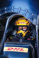 Jun 6, 2016; Epping , NH, USA; NHRA funny car driver Del Worsham during the New England Nationals at New England Dragway. Mandatory Credit: Mark J. Rebilas-USA TODAY Sports