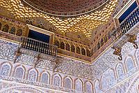 Salon de Embajadores, Real Alcazar, Sevilla, Spain