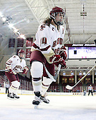 Katelyn Kurth (BC - 14) - The Boston College Eagles and the visiting University of New Hampshire Wildcats played to a scoreless tie in BC's senior game on Saturday, February 19, 2011, at Conte Forum in Chestnut Hill, Massachusetts.