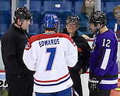 Tim Low, John McInnis (Mankato - 7), Scott Hansen, Rylan Galiardi (Mankato - 12) - The visiting Minnesota State University-Mankato Mavericks defeated the University of Massachusetts-Lowell River Hawks 3-2 on Saturday, November 27, 2010, at Tsongas Arena in Lowell, Massachusetts.