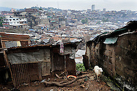 View from Marbella Slum, Freetown, Sierra Leone onto the Bay.