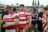 The Gloucester team leave the field after the match. Aviva Premiership match, between Bath Rugby and Gloucester Rugby on April 30, 2017 at the Recreation Ground in Bath, England. Photo by: Patrick Khachfe / Onside Images
