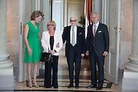 King Philippe and Queen Mathilde of Belgium meet with jazz musician Toots Thielemans - Belgium