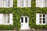 Typical grand French house in Montmartin-Sur-Mer, Normandy, France
