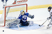 Jason Torf (Air Force - 29), Kevin Limbert (Yale - 10) - The Yale University Bulldogs defeated the Air Force Academy Falcons 2-1 (OT) in their East Regional Semi-Final matchup on Friday, March 25, 2011, at Webster Bank Arena at Harbor Yard in Bridgeport, Connecticut.