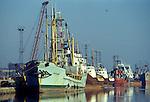 Fishing industry Fleetwood Lancashire Uk 1980s
