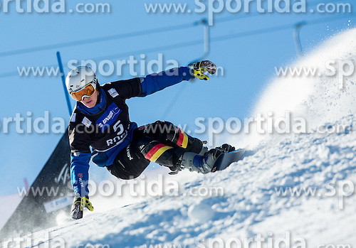 Alexander Bergmann of Germany competes during Qualification Run of Men's Parallel Giant Slalom at FIS Snowboard World Cup Rogla 2015, on January 31, 2015 in Course Jasa, Rogla, Slovenia. Photo by Vid Ponikvar / Sportida