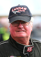 Feb 26, 2017; Chandler, AZ, USA; NHRA top fuel driver Steve Chrisman during the Arizona Nationals at Wild Horse Pass Motorsports Park. Mandatory Credit: Mark J. Rebilas-USA TODAY Sports