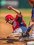 7 March 2013: Washington Nationals infielder Anthony Rendon is tagged out at third during a Spring Training game against the Houston Astros at Osceola County Stadium in Kissimmee, Florida. The Astros defeated the Nationals 4-2 in Grapefruit League play. Mandatory Credit: Ed Wolfstein Photo *** RAW (NEF) Image File Available ***