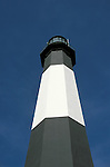 GA, Georgia, Tybee Island, lighthouse, 2005 .Image: gatybee105..Photo Copyright: Lee Foster, lee@fostertravel.com, www.fostertravel.com, (510) 549-2202.