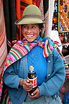 Americas, South America, Peru, Pisac. A coke and a smile, Peruvian style.
