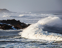 One of the innumerable personalities of the ocean and its waves at Bean Hollow State Beach.