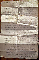 28 January 1993<br /> Ukhiya - Cox's Bazar-  Bangladesh<br />  Rohingya refugees camp Shalimar Dhaba, Letter with a request to help the Rohingya
