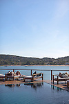 The main pool at Insolito overlooks Ferradura Beach, in Buzios.