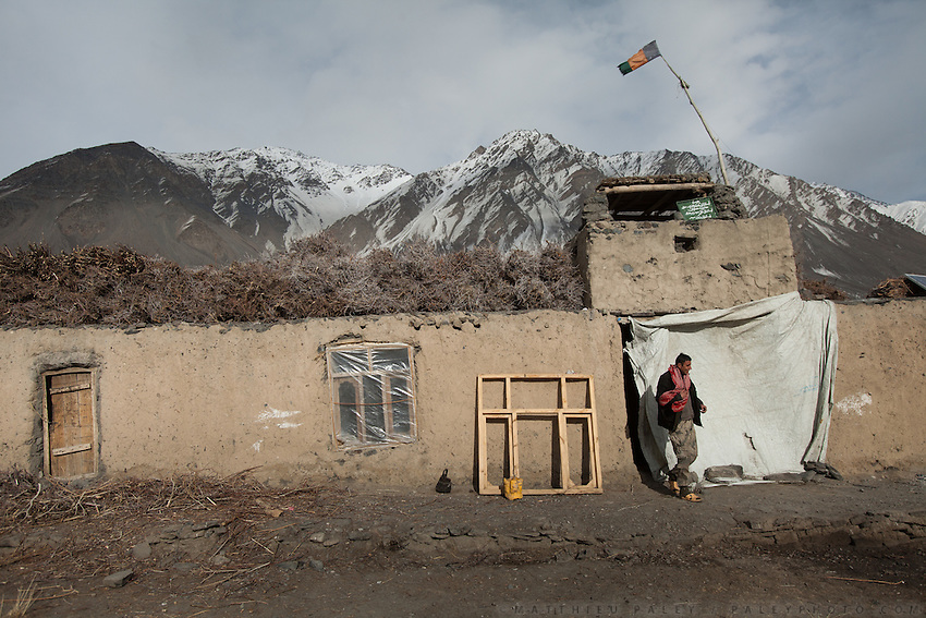 At the border police check in Sarhad village, inhabited by Wakhis people. It is the end of the jeepable road in the Wakhan corridor, and the beginning or the end of the trek up and down to the Little Pamir where the Afghan Kyrgyz live.