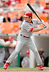 11 June 2006: Chase Utley, infielder for the Philadelphia Phillies, at bat during a game against the Washington Nationals at RFK Stadium, in Washington, DC. The Nationals shut out the visiting Phillies 6-0 to take the series three games to one...Mandatory Photo Credit: Ed Wolfstein Photo..