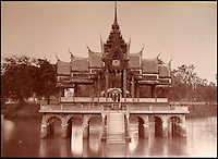 BNPS.co.uk (01202 558833)<br /> Pic: 25BlytheRoad/BNPS<br /> <br /> Lake temple in Bangkok.<br /> <br /> Stunning 125 year-old pictures of Thailand which showcase the tropical paradise long before it became a tourist hot-spot have emerged.<br /> <br /> The collection of photographs from the early 1890s include images of the King's birthday celebrations in 1892, the King's palace and the Bangkok architecture.<br /> <br /> Also included in the collection are photographs of Hong Kong under British crown rule in 1895 including of British seamen, the Hong Kong cricket team and the native army.<br /> <br /> The photo album will go under the hammer on January 25 and is tipped to sell for &pound;1,500.<br /> <br /> The owner of the album is believed to have been a member of the Royal Engineers or connected with them.<br /> <br /> The fascinating photos provide a snapshot of Thailand under the rule of King Chulalongkorn.<br /> <br /> He was the first Siamese king to have a full western education, having been taught by British governess Anna Leonowens whose memoirs were transported to the silver screen in the famous film The King and I.