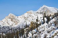 Rocky mountain ridge in the Wiehl mountains of the Brooks range, Arctic, Alaska.