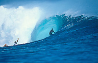 Luke Egan (AUS) won the 1997 Quiksilver Pro at G-Land Indonesia on the East Coast of Java. Kelly Slater (USA) was runner up in the event. photo:  joliphotos.com