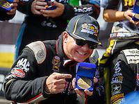 Sep 18, 2016; Concord, NC, USA; NHRA top fuel driver Steve Torrence during the Carolina Nationals at zMax Dragway. Mandatory Credit: Mark J. Rebilas-USA TODAY Sports