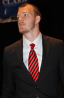 D.C. United goalkeeper joe Willis,at the United Kickoff luncheon, at the Marriott hotel in Washington DC, March 5, 2012.