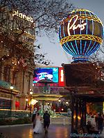 Bride running late Las Vegas Nevada, Strip, Hotel Casino Resorts at night Hospitality