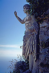 Roman Staute or Sculpture on the top of the ISland of Capri, Monte Solaro, in the small town of Anacapri in the Bay of Naples.