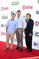 LOS ANGELES - JUL 29:  Scott Caan, Alex O'Loughlin, Masi Oka arrives at the CBS, CW, and Showtime 2012 Summer TCA party at Beverly Hilton Hotel Adjacent Parking Lot on July 29, 2012 in Beverly Hills, CA