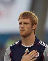 New England Revolution defender Pat Phelan (28). The New England Revolution defeated DC United, 1-0, at Gillette Stadium on August 7, 2010.