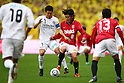 (L to R) Hidekazu Otani (Reysol), Yosuke Kashiwagi (Reds), December 3, 2011 - Football : 2011 J.LEAGUE Division 1, 34th Sec match between Urawa Red Diamonds 1-3 Kashiwa Reysol at Saitama Stadium 2002, Kanagawa, Japan. (Photo by Daiju Kitamura/AFLO SPORT) [1045]