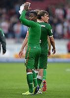 Fussball  1. Bundesliga  Saison 2013/2014  8. Spieltag VfB Stuttgart - SV Werder Bremen     05.10.2013 Eljero Elia (SV Werder Bremen) mit Dank an die Fans nach dem Spiel