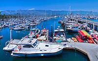 Santa Barbara, CA, Marina Panorama