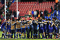 Japan team group (JPN),JULY 3, 2011 - Football :Dejected Japan players form a circle after the 2011 FIFA U-17 World Cup Mexico Quarterfinal match between Japan 2-3 Brazil at Estadio Corregidora in Queretaro, Mexico. (Photo by AFLO)