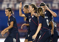 Lauren Cheney (12) and USWNT. USWNT vs Costa Rica in the 2010 CONCACAF Women's World Cup Qualifying tournament held at Estadio Quintana Roo in Cancun, Mexico on November 8th, 2010.