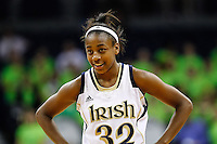 SOUTH BEND, IN - FEBRUARY 11: Jewell Loyd #32 of the Notre Dame Fighting Irish seen during the game against the Louisville Cardinals at Purcel Pavilion on February 11, 2013 in South Bend, Indiana. Notre Dame defeated Louisville 93-64. (Photo by Michael Hickey/Getty Images) *** Local Caption *** Jewell Loyd