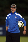 11 October 2009: Duke assistant coach Michael Brady. The Duke University Blue Devils defeated the University of North Carolina Greensboro Spartans 3-0 at Koskinen Stadium in Durham, North Carolina in an NCAA Division I Men's college soccer game.
