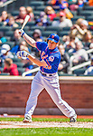 21 April 2013: New York Mets infielder Daniel Murphy in action against the Washington Nationals at Citi Field in Flushing, NY. The Mets shut out the visiting Nationals 2-0, taking the rubber match of their 3-game weekend series. Mandatory Credit: Ed Wolfstein Photo *** RAW (NEF) Image File Available ***