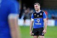 George Ford of Bath Rugby is all smiles during the pre-match warm-up. European Rugby Champions Cup match, between Bath Rugby and RC Toulon on January 23, 2016 at the Recreation Ground in Bath, England. Photo by: Patrick Khachfe / Onside Images
