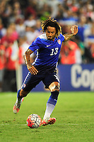 Jermaine Jones of the US winds up for a kick. USA defeated Peru 2-1 during a Friendly Match at the RFK Stadium in Washington, D.C. on Friday, September 4, 2015.  Alan P. Santos/DC Sports Box