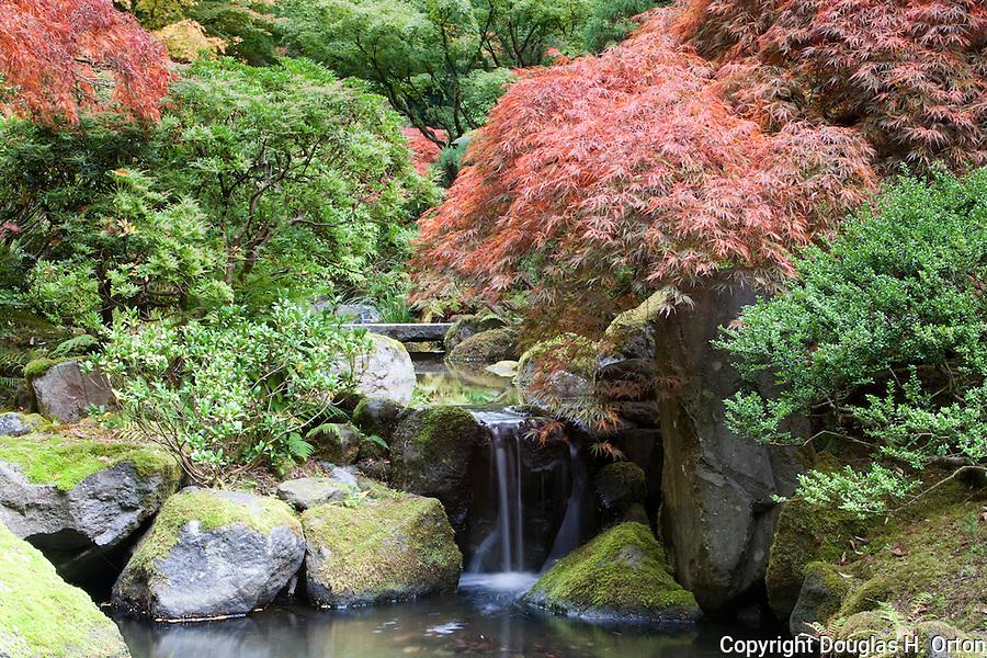 Waterfall in japanese garden portland oregon douglas for Japanese garden features