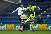 Preston North End's Aidan McGeady in action with Reading's Chris Gunter<br /> <br /> Photographer Mick Walker/CameraSport<br /> <br /> The EFL Sky Bet Championship - Preston North End v Reading - Saturday 11th March 2017 - Deepdale - Preston<br /> <br /> World Copyright &copy; 2017 CameraSport. All rights reserved. 43 Linden Ave. Countesthorpe. Leicester. England. LE8 5PG - Tel: +44 (0) 116 277 4147 - admin@camerasport.com - www.camerasport.com
