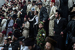 Ultra-Orthodox Hassidic Jews celebrate the holiday of Purim in the city of Beit Shemesh, close to Jerusalem, Israel.